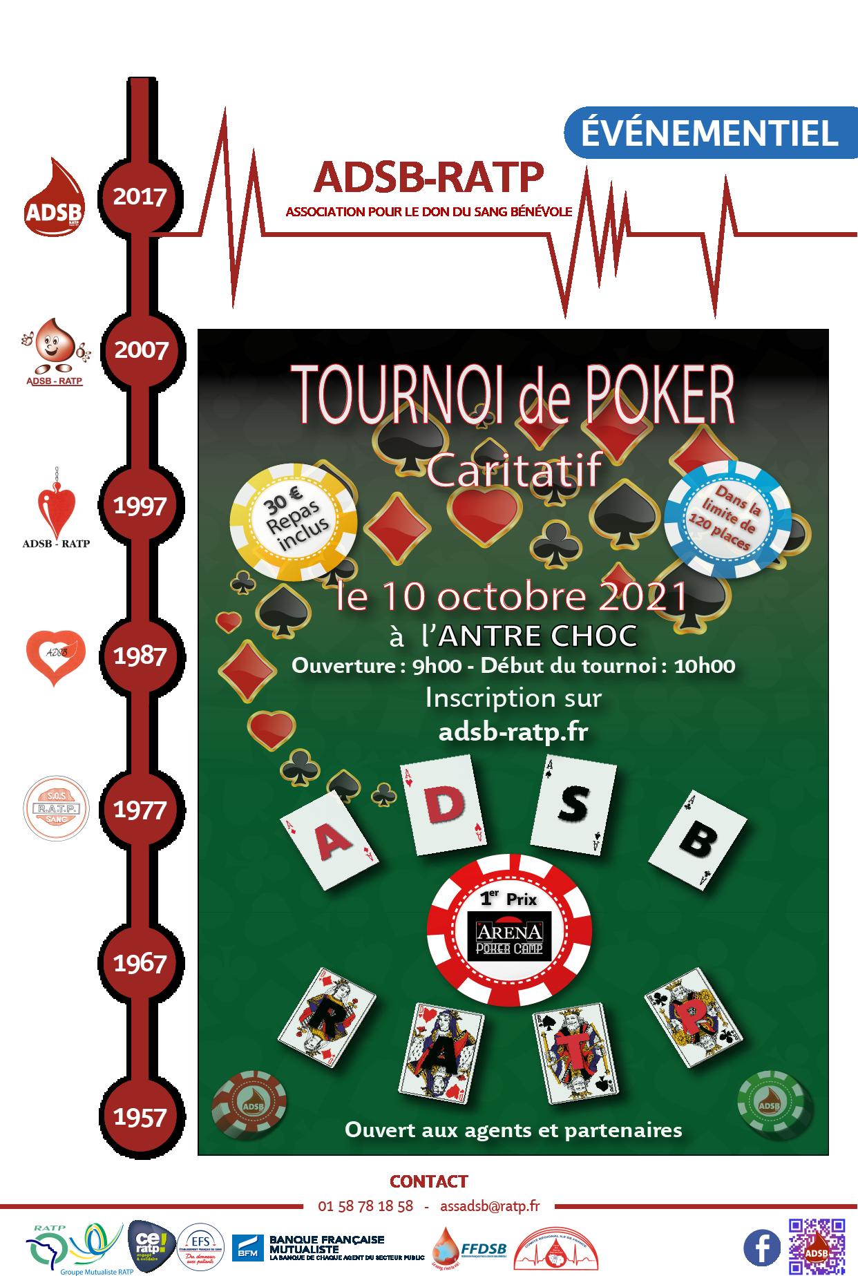 Affiche poker 10 10 2021